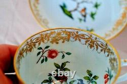 Herend antique Rotschild gilded & flowers patterned tea cup with saucer