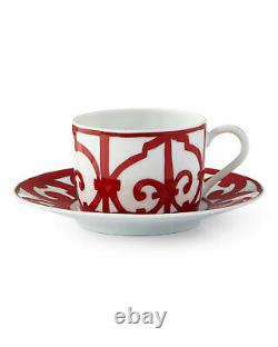 Hermes Balcon Du Guadalquivir Pair Of Tea Cups & Saucers #p011016p Brand Nib F/s