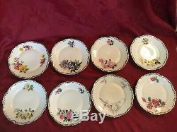 Hertel Jacob Bavaria Dresden Set Of 8 Dessert Plates, Tea Cups Saucers 24 Pieces