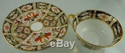 Imari 2451 Tea Cup & Saucer Large Scalloped By Royal Crown Derby 1913-1917