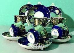 KUZNETSOV Antique Imperial Russian porcelain Coffee set, tea, tableware