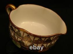 MARKED Kutani Kaga JAPANESE MEIJI PERIOD KUTANI TEA SET POT & CUPS & WATER CUP