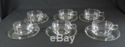 MCM Bauhaus Wilhelm Wagenfeld Schott&Gen Jena Glass Tea Coffee Cups &Saucers Set