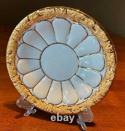 Meissen X Form Gold Porcelain Tea Cup with Saucer MINT