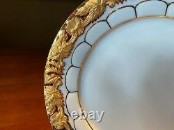 Meissen X Form Porcelain Tea Cup with Saucer and Dessert Plate MINT