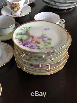 Mixed Vintage Tea Party 12 Cups Saucers/Plates 38 Piece Lot Porcelain China