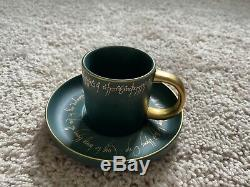 NEW LitJoy Crate Exclusive Lord Of The Rings LOTR Mini Tea Cup & Saucer Set