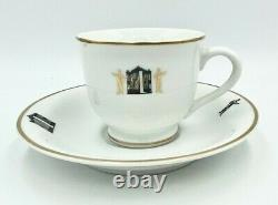 New Iconic The 21 Club New York NYC Demitasse Tea Coffee Cup & Saucer Gift