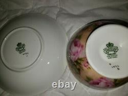 OUTSTANDING Aynsley Cabbage Roses Tea Cup and Saucer Pattern 1026