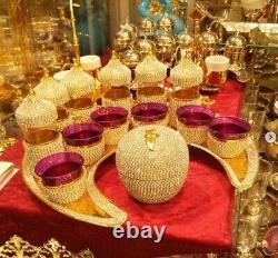 Ottoman Turkish Arabic Coffee +Tea Set 6+1+6 +1 cups
