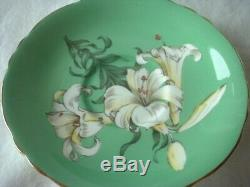 PARAGON China EASTER LILY Tea Cup & Saucer Queen Mary EX