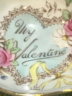 PARAGON China RARE MY VALENTINE Teacup and Saucer By Appt Royal Warrant
