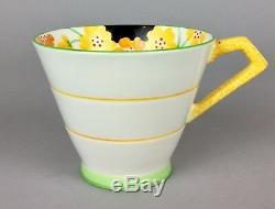 Paragon- Crocus Art Deco Bone China Tea Coffee Cup Can Saucer Set Service 766514