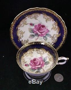Paragon Double Warrant Cabinet Tea Cup Rich Cobalt Blue With Gold Trim
