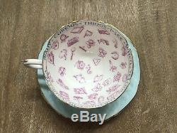 Paragon Fortune Telling Tea Cup & Saucer Rare Robins Egg Blue