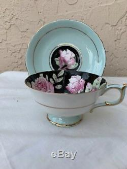 Paragon Rare Teacup & Saucer With Cabbage Roses