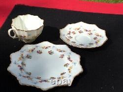 Paragon Star English Bone China Tea Cup Saucer + Plate Trio antique vintage