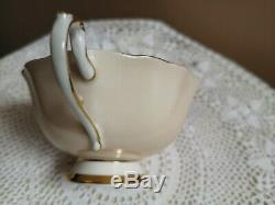 Paragon by Appointment Tea Cup and Saucer Heavy Gold Floating Flowers England