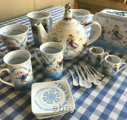 Paul Cardew Designs Alice In Wonderland Ceramic Teapot Teaset Teacups Saucer