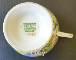 RARE! SHELLEY Paisley Baileys PALE CHINTZ PATTERN Ripon Teacup Saucer Vintage