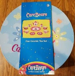 Rare Care Bears Tea Set Brass Key Keepsakes 12 Pc Set with Cups, Saucers, Platter