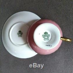 Rare Pink Aynsley J A Bailey England Teacup & Saucer