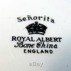 Rare Royal Albert Senorita Tea Cup and Saucer Set