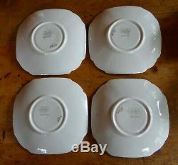 Rare Shelley Queen Anne Style Cups And Saucers, Pattern 12121, Tulip Handles