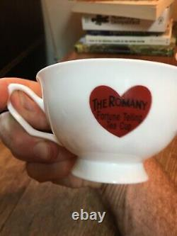 Romany Gypsy fortune telling teacup Tasseography tarot tea cup & saucer occult