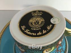 Rosenthal meets VERSACE Les Tresors de la Mer TEA CUP and Saucer New in Box