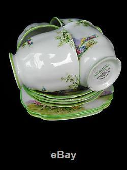 Royal Albert Greenwood 12pc Tea Set Tea Cup Saucer Plate 1st Eng c1927 No 774783