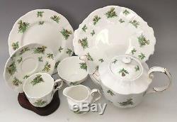 Royal Albert Highland Thistle Set Tea Pot, Cups & Saucers, Dessert Cake Plates