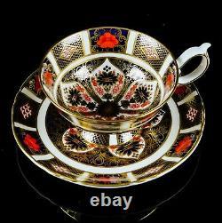 Royal Crown Derby Old Imari 1128 Gold Footed Elizabeth Tea Cup & Saucer Dish