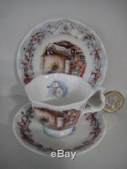 Royal Doulton Brambly Hedge Miniature Tea Set Cup Saucer Plate Teapot Jug Bowl