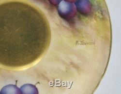 Royal Worcester Fruit Painted matched Cup & Saucer. H. Everette and E. Townsend