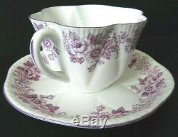SHELLEY Dainty Mauve Purple Daisy Rose Fine Bone China Tea Cup & Saucer RARE