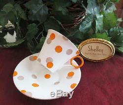 SHELLEY Fine Bone China POLKA DOT, #12210 Cup & Saucer REGENT Shape RARE