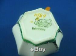 SHELLEY Queen Anne DECO DESIGN RD 723404 patt 11589 TEA CUP & SAUCER ENGLAND