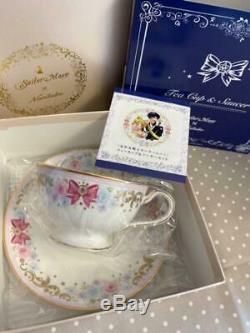 Sailor Moon x Noritake Collaboration Tea Cup Saucer Set BANDAI Japan Anime Rare