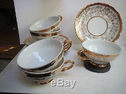 Schirnding Bavaria Tea Set Teapot/creamer/covered Sugar/5 Cups/6 Saucers