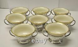 Set of 8 Tiffany & Co Sterling Silver Bouillon /Tea /Coffee Cups & Lenox Inserts