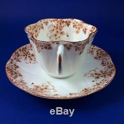 Shelley Dainty Brown Fine Bone China Tea Cup And Saucer