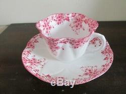 Shelley Dainty Pink Bone China England Tea Cup And Saucer
