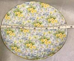 Shelley Primrose Chintz Teacup Saucer Gold Rim Yellow Flowers Footed