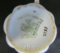 Shelley Wileman Foley Snowdrop Shaped Pink, Green Cameo Tea Cup, Saucer & Plate