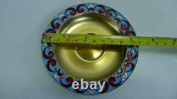 Soviet Russian 916 Silver Enamel Tea Cup with Saucer 189.6 Grams