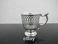 TIFFANY Sterling Silver LENOX Porcelain Demitasse Tea or Egg Cup Saucer 30pc Set