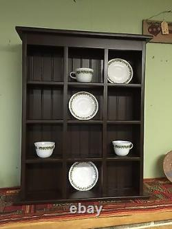 Tea Cup and Saucer Plate Rack and Kitchen Display Shelf Counter top or Wall Hang