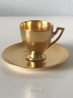 Tiffany & Co Art Nouveau Espresso Tea Cup & Saucer Signature Vintage Antique
