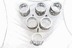 Ultra Rare Antique Set 6 Silver Plated WMF Germany Tea Cup Glass Holders